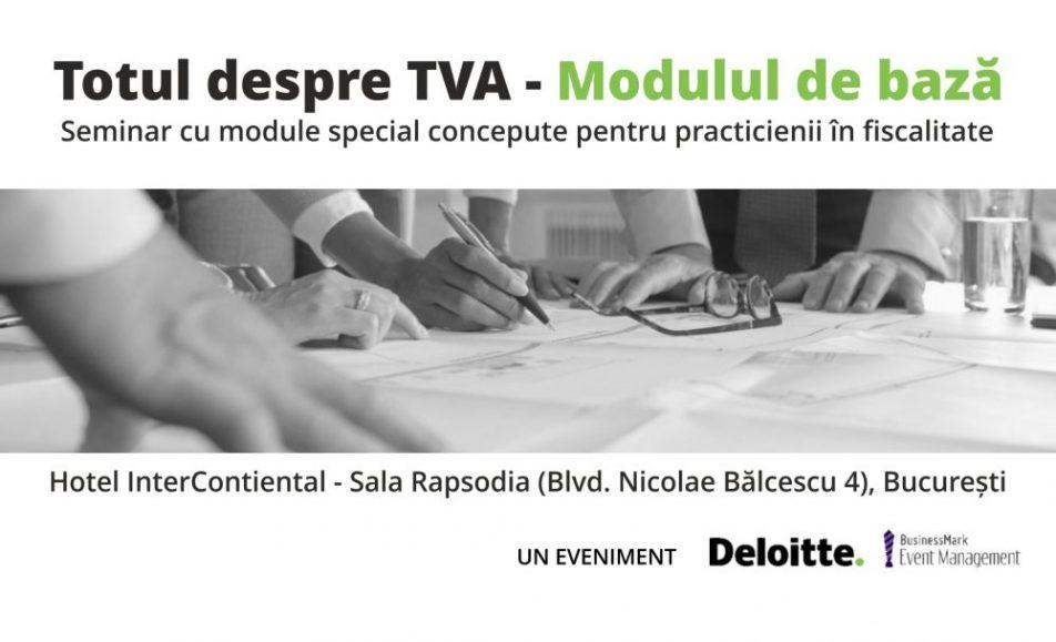 Totul despre TVA – Modul de bază